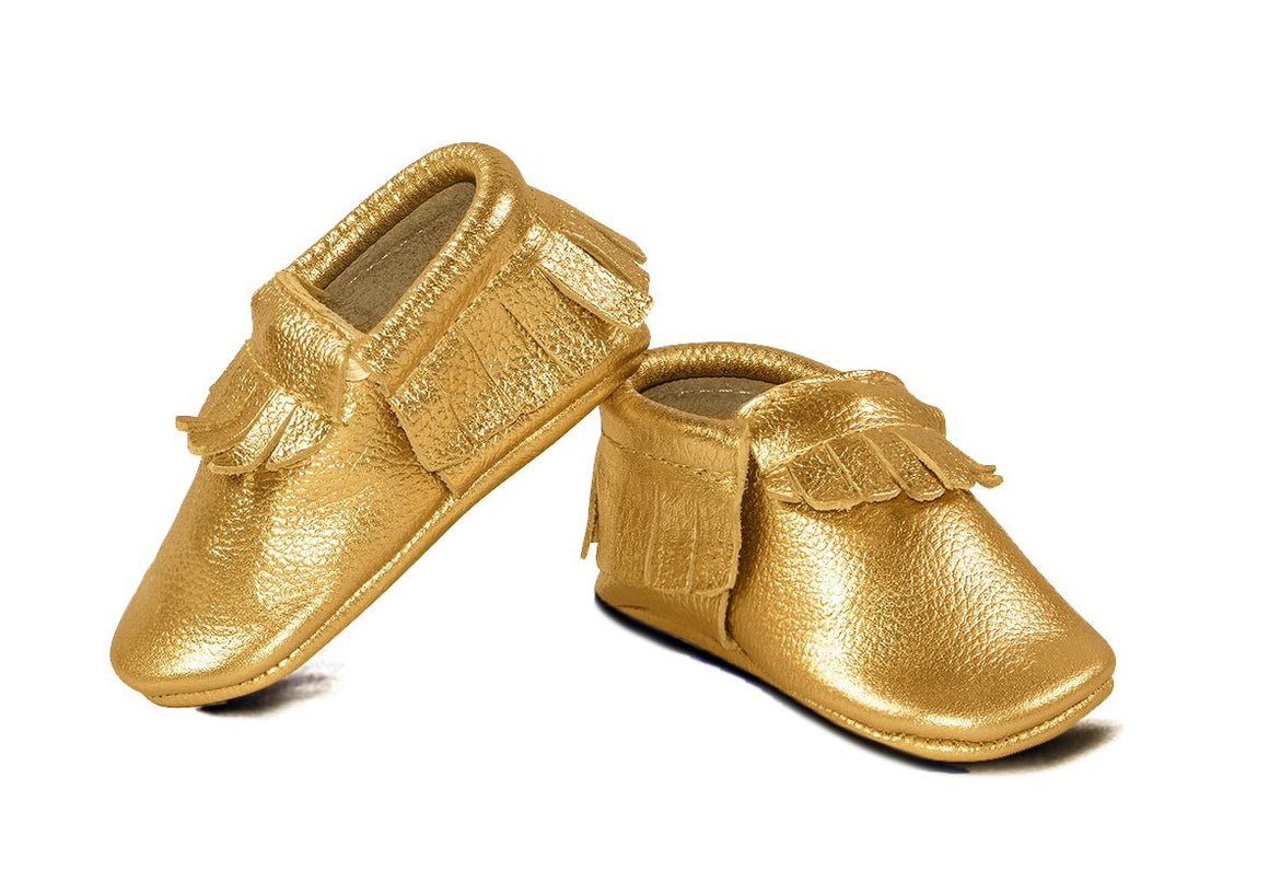 Gold Classic Moccasins