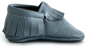 Grey Classic Moccasins