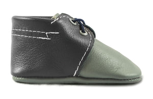 Grey & Navy Oxford Boat Shoes