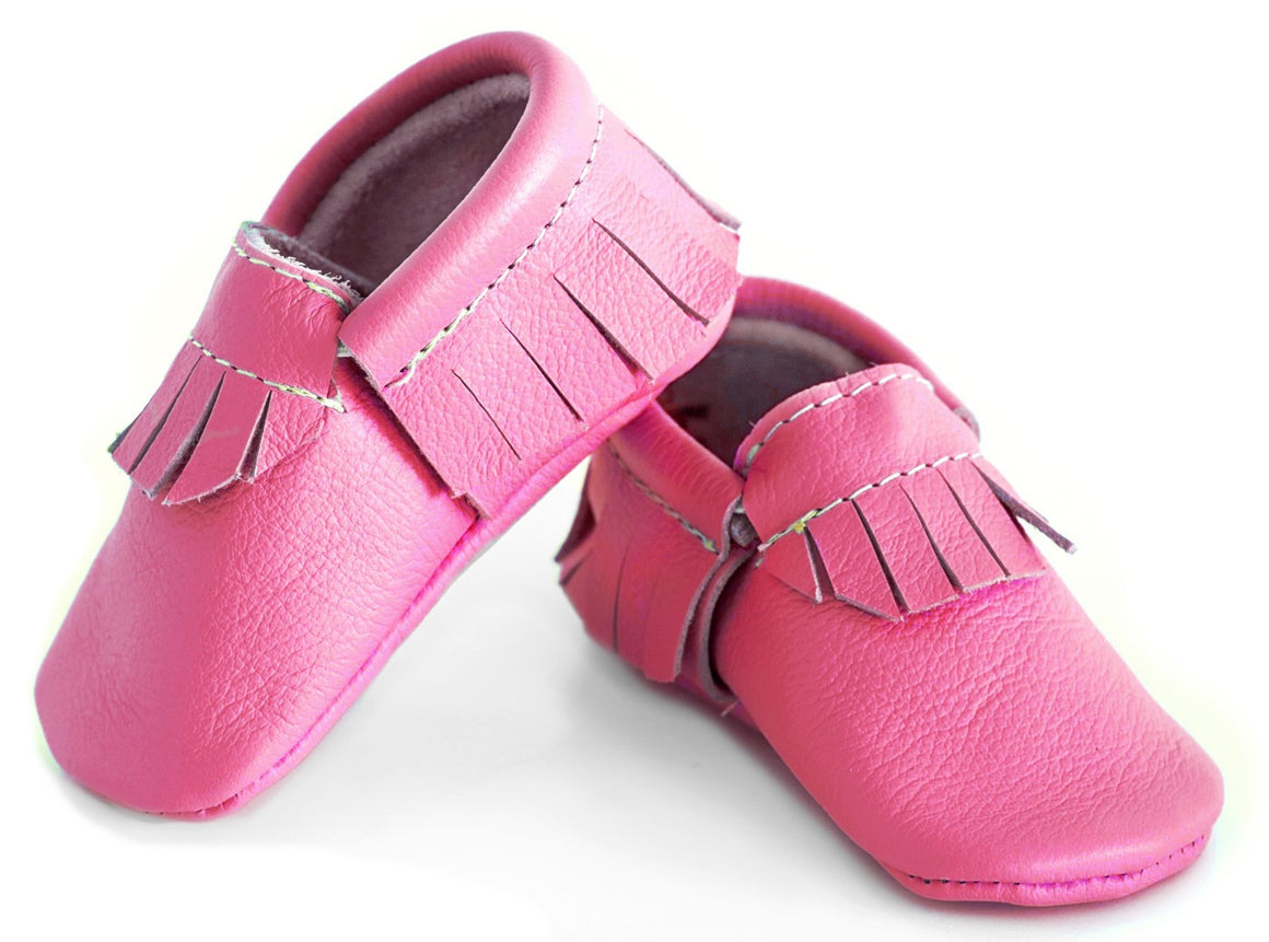 Hot Pink Classic Moccasins