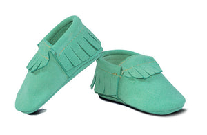 Mint Suede Classic Moccasins