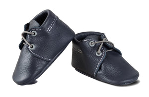 Navy Oxford Boat Shoes