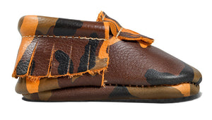 Orange Camo Classic Moccasins