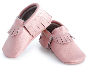Pale Pink Classic Moccasins