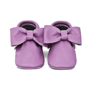 Plum Bow Moccasins Size 6