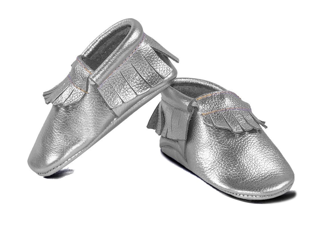 Silver Classic Moccasins