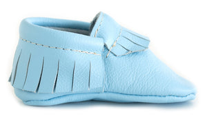 Sky Blue Classic Moccasins