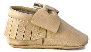 Tan Bow Moccasins