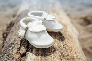 White Classic Moccasins
