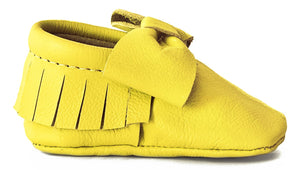 Sunshine Yellow Bow Moccasins