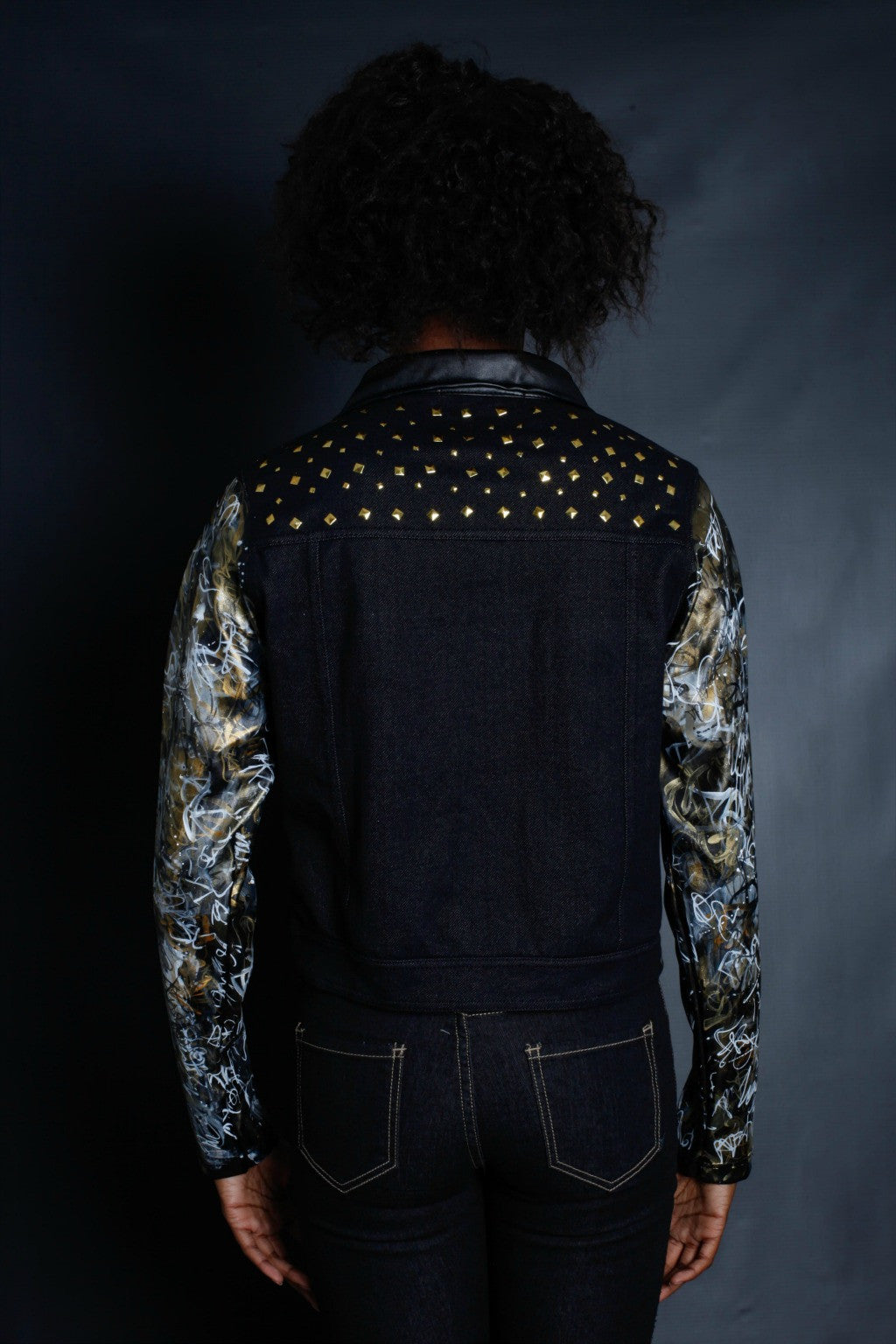 New York Graffiti Sleeves Light Weight Jacket (BLACK)
