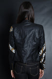 Snake Sleeve Bomber Jacket (BLACK/GOLD)