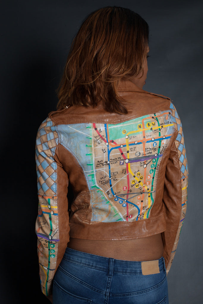 NYC Subway Map Jacket | Moto Jacket