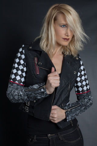 Optical Illusion Quilted Jacket | Moto