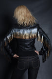 Rock On Ombre Fringe Jacket | Moto (BLACK)