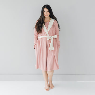 Rosebud and Dove Adult Robe
