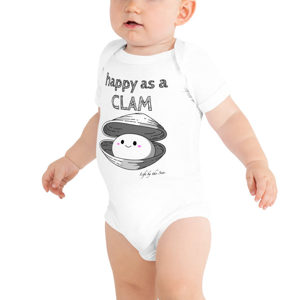 Happy as a Clam, girls onesie