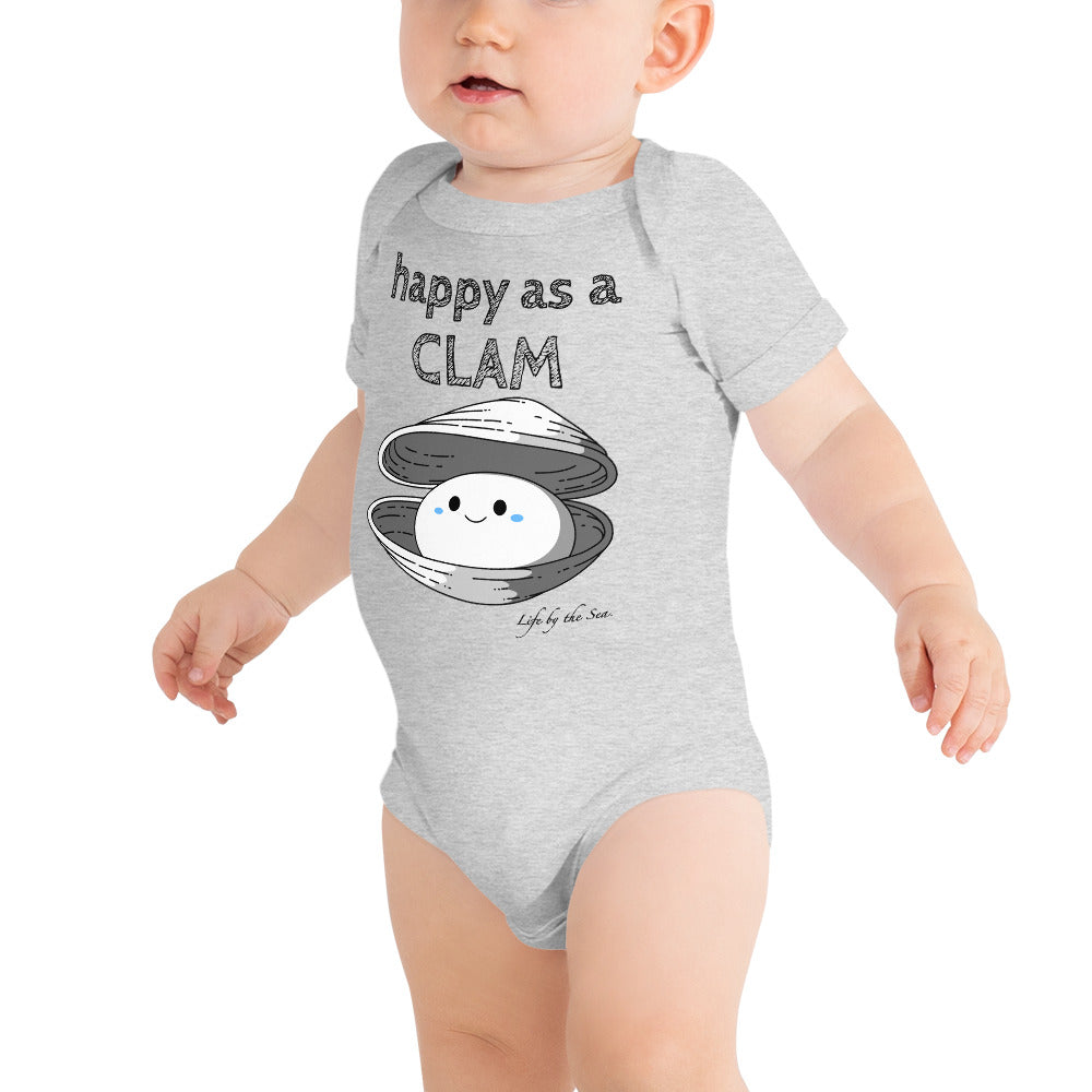 Happy as a Clam Boys Onesie