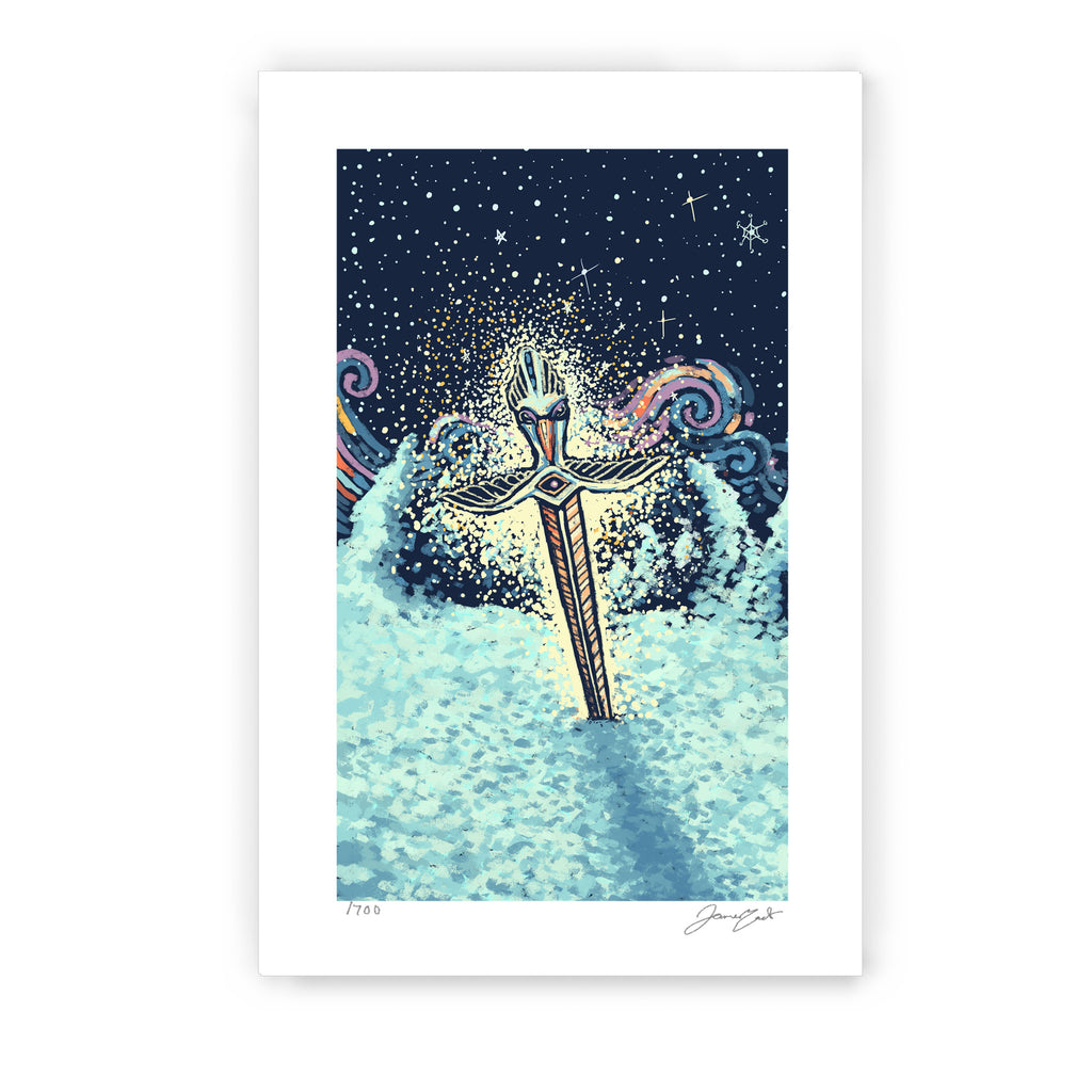 Ace of Swords Print (Limited Edition Print)