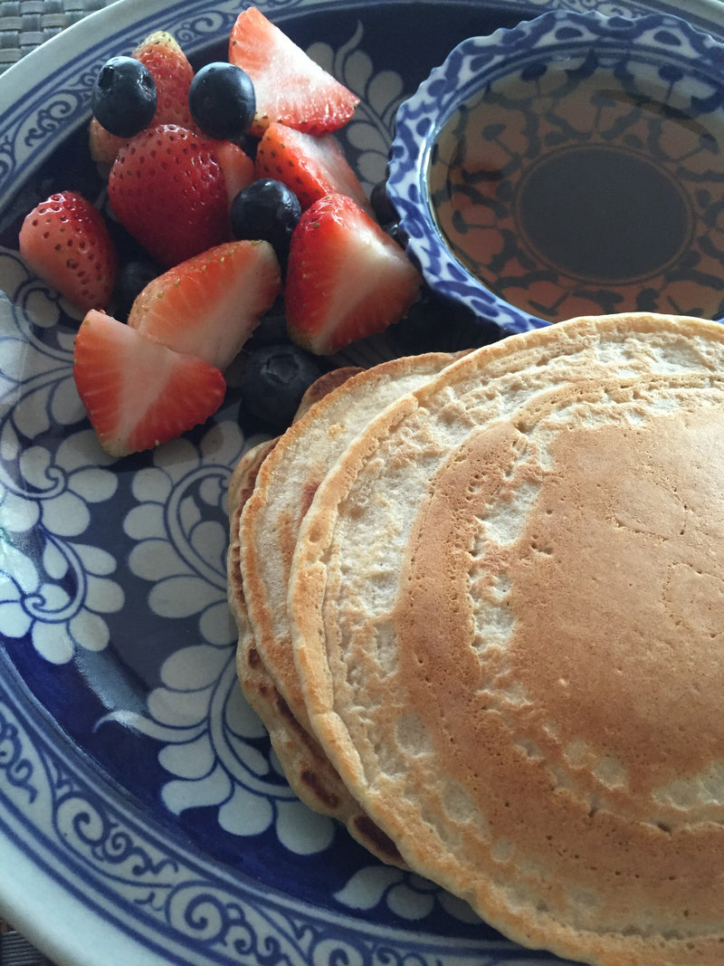 Healthy and happy pancakes