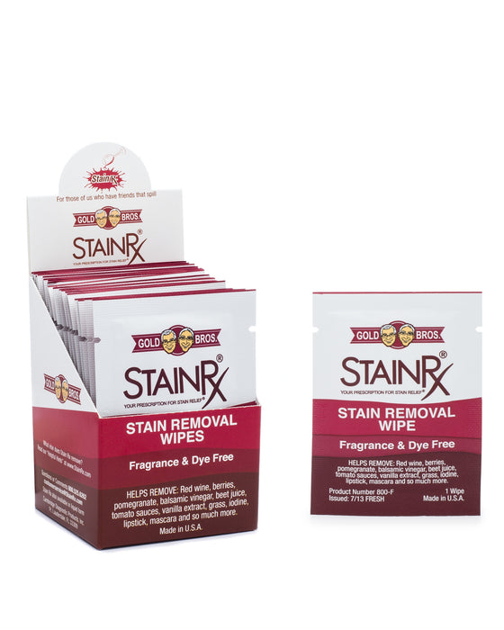 Fragrance & Dye Free Stain Rx® Box of 18 Wipes