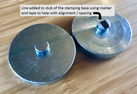 Stamping base alignment trick