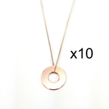 MyIntent Refill Dainty Necklaces set of 10 Rose Gold Plated Color