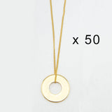 MyIntent Refill Dainty Necklaces set of 50 Gold Plated Color