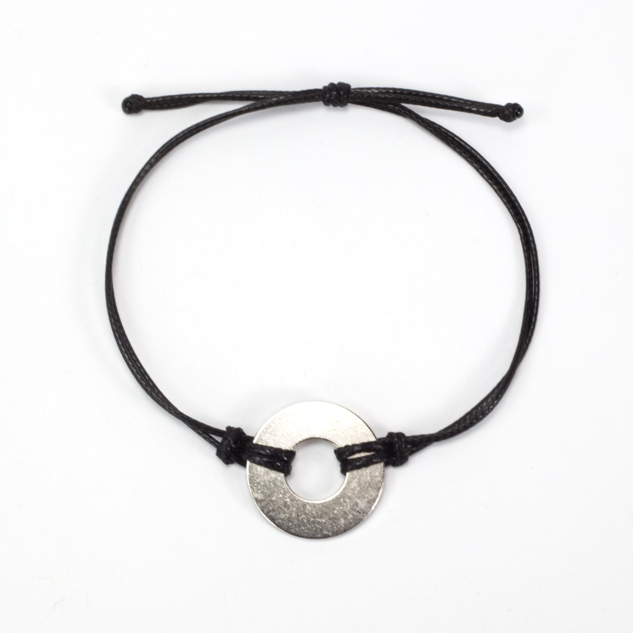 MyIntent Refill Classic Bracelet Black String with Nickel token