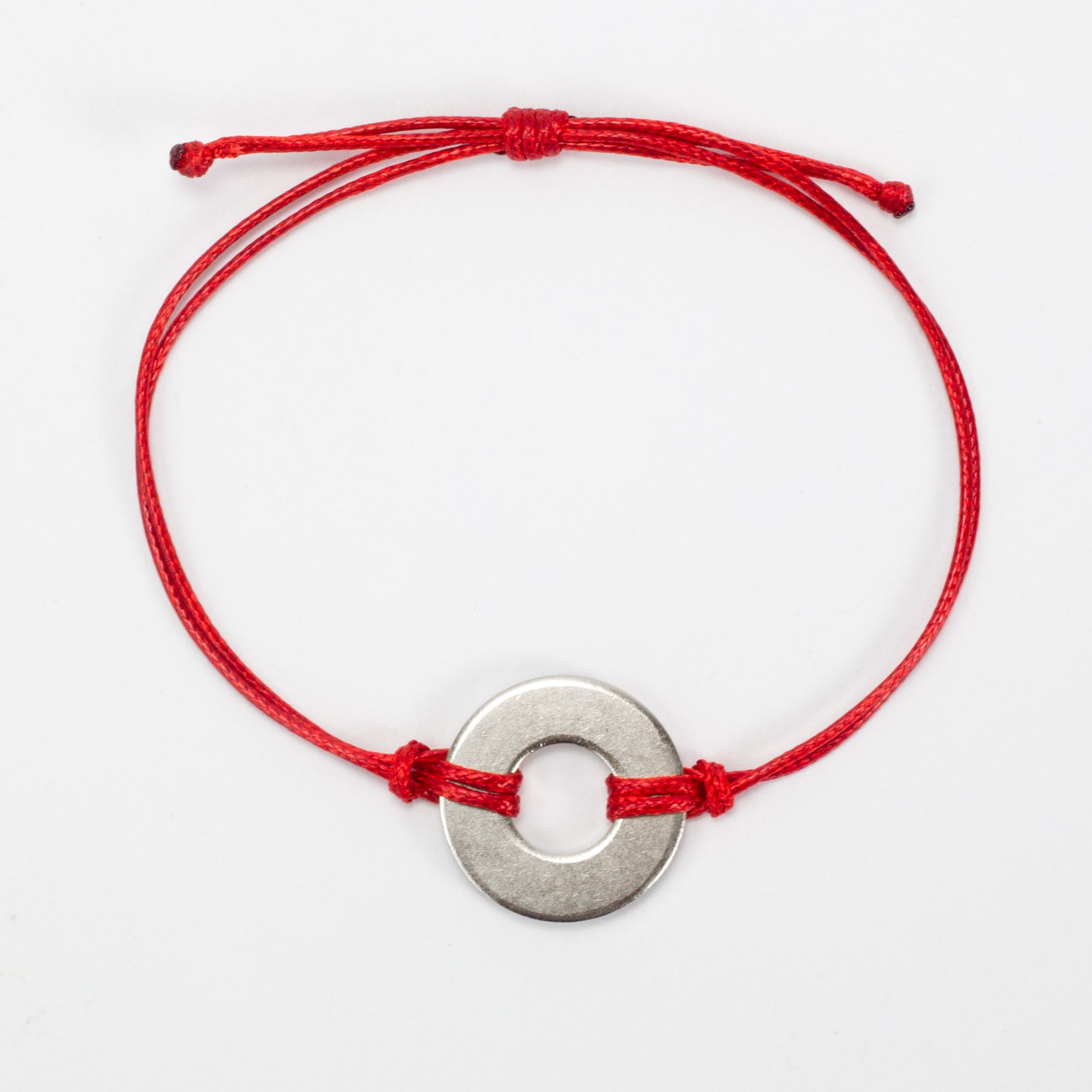 MyIntent Refill Classic Bracelet Red String with Nickel token