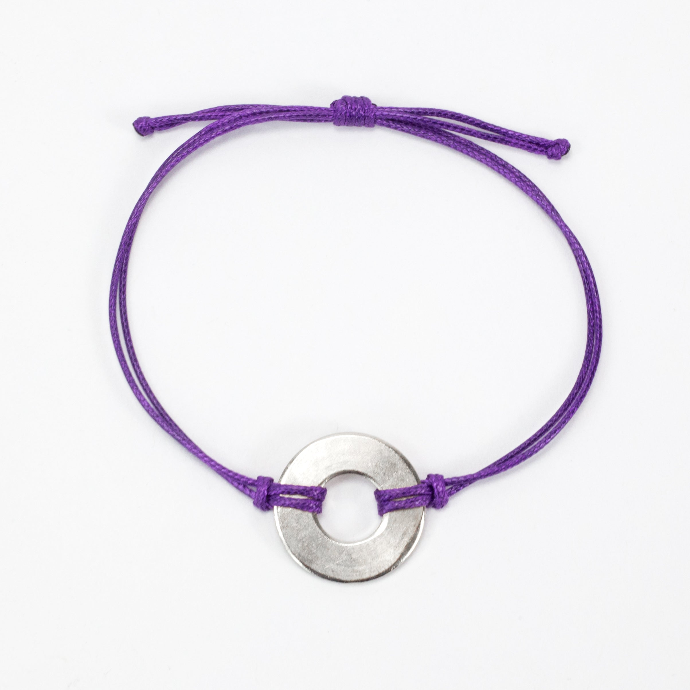 MyIntent Refill Classic Bracelet Purple String with Nickel token