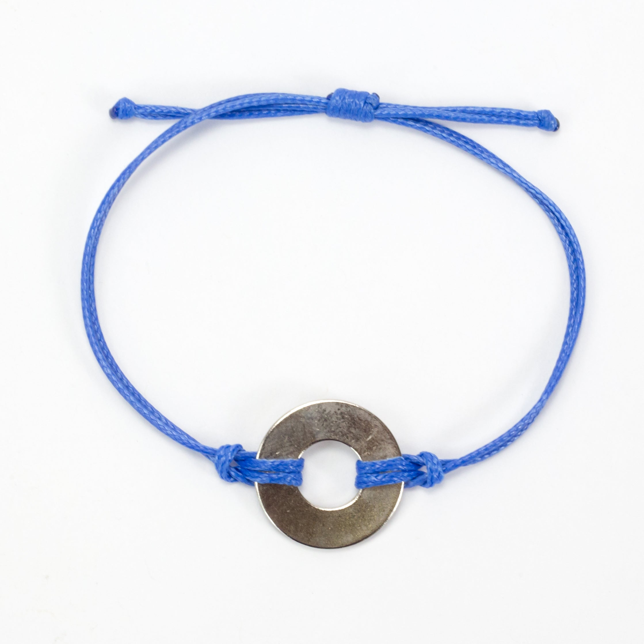 MyIntent Refill Classic Bracelet Blue String with Nickel token