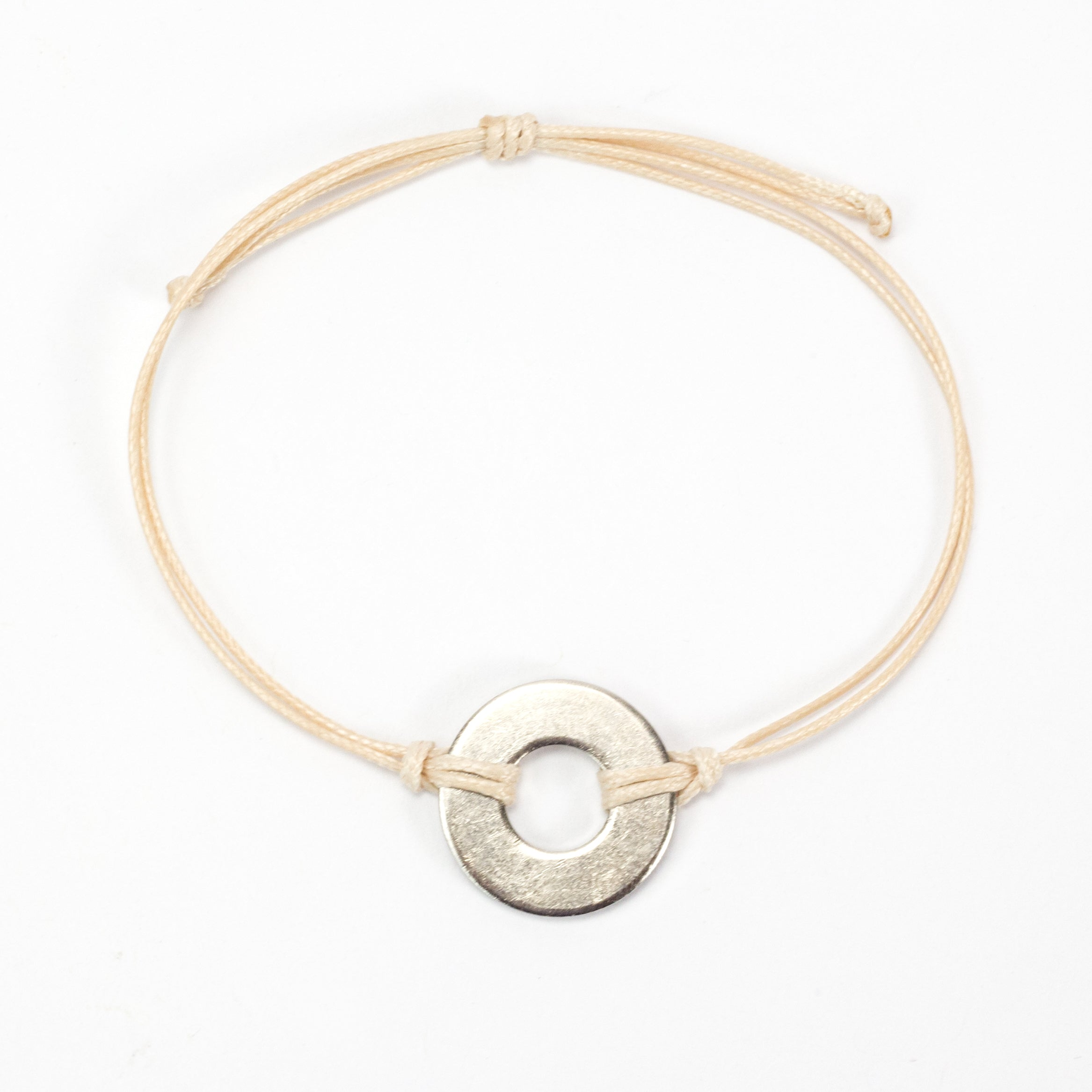 MyIntent Refill Classic Bracelet Cream String with Nickel token
