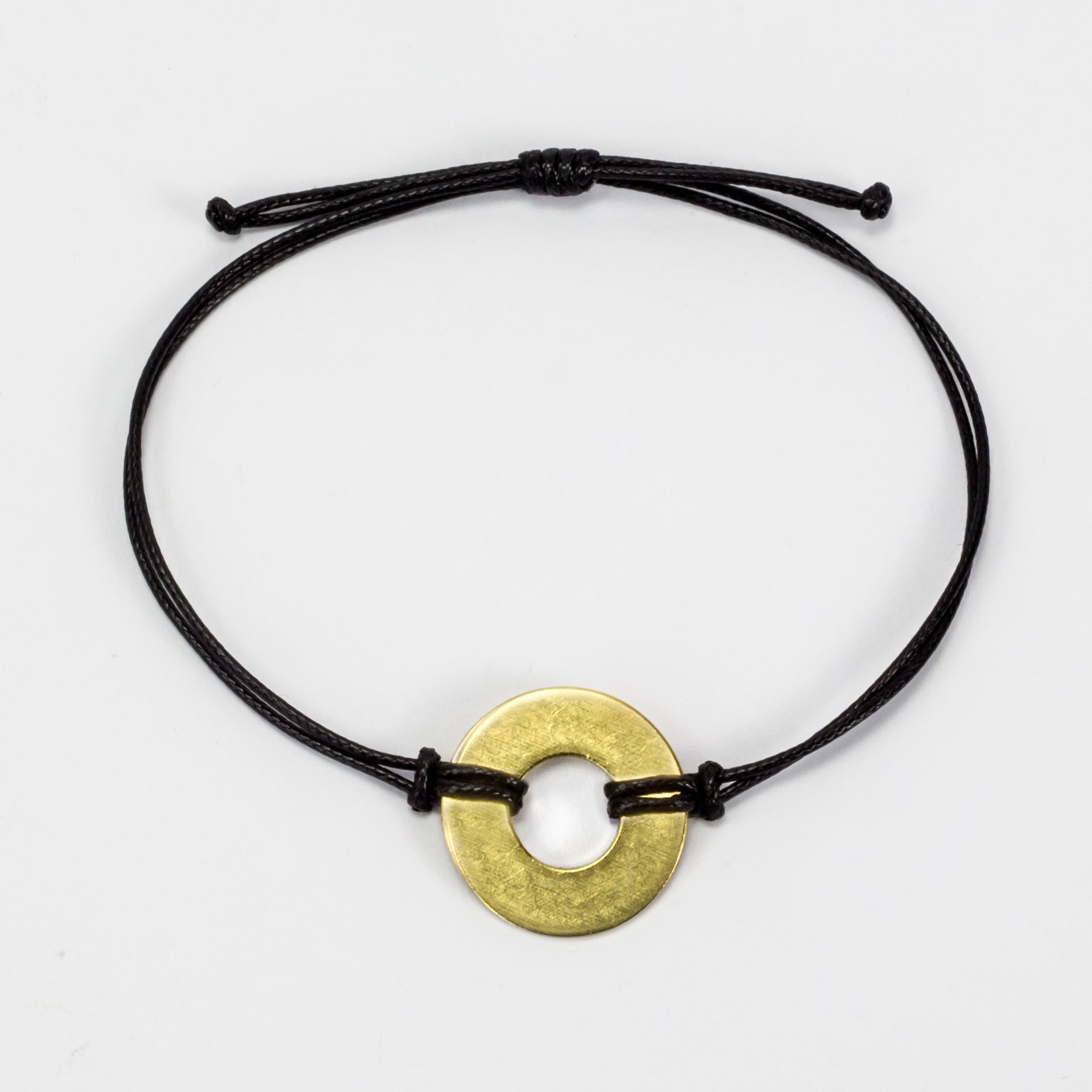 MyIntent Refill Classic Bracelet Black String with Brass token