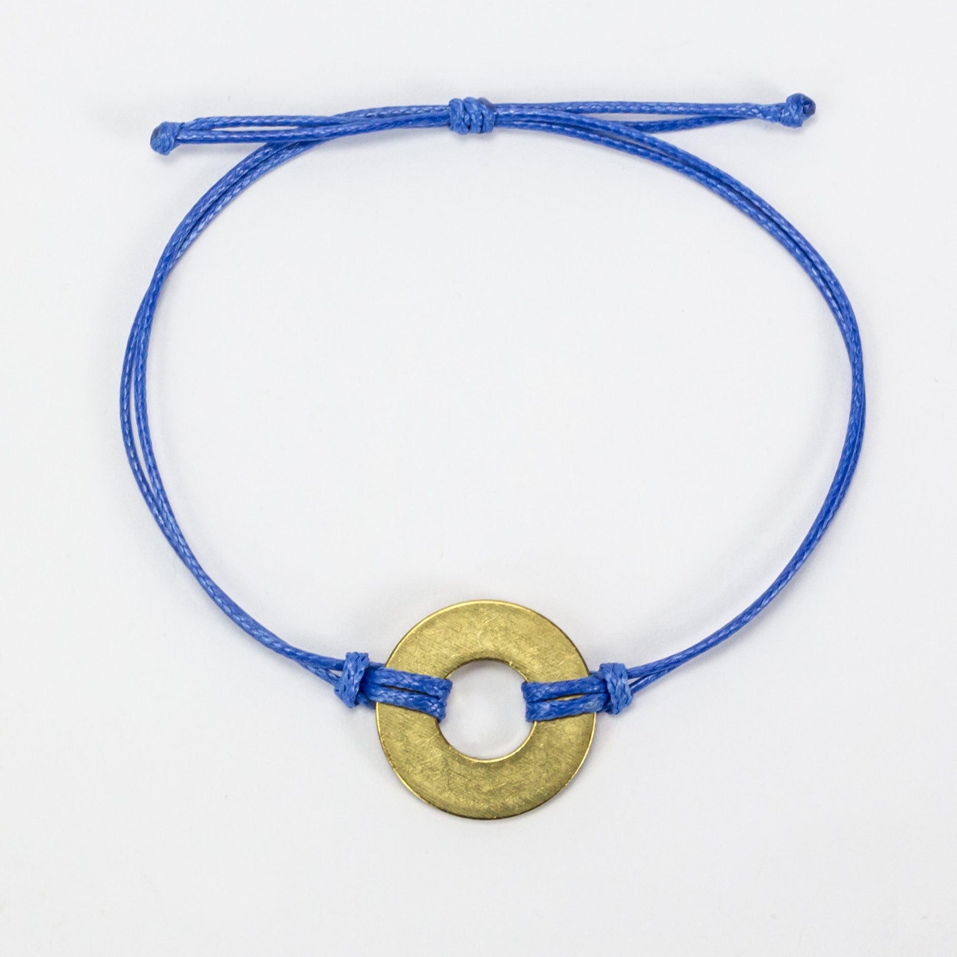 MyIntent Refill Classic Bracelet Blue String with Brass token