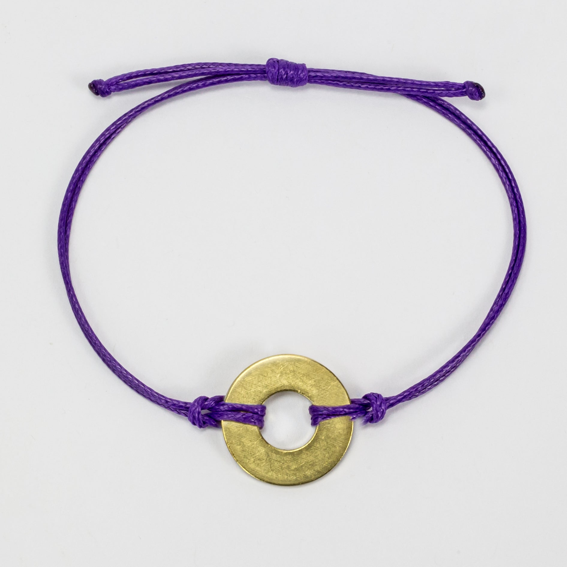 MyIntent Refill Classic Bracelet Purple String with Brass token