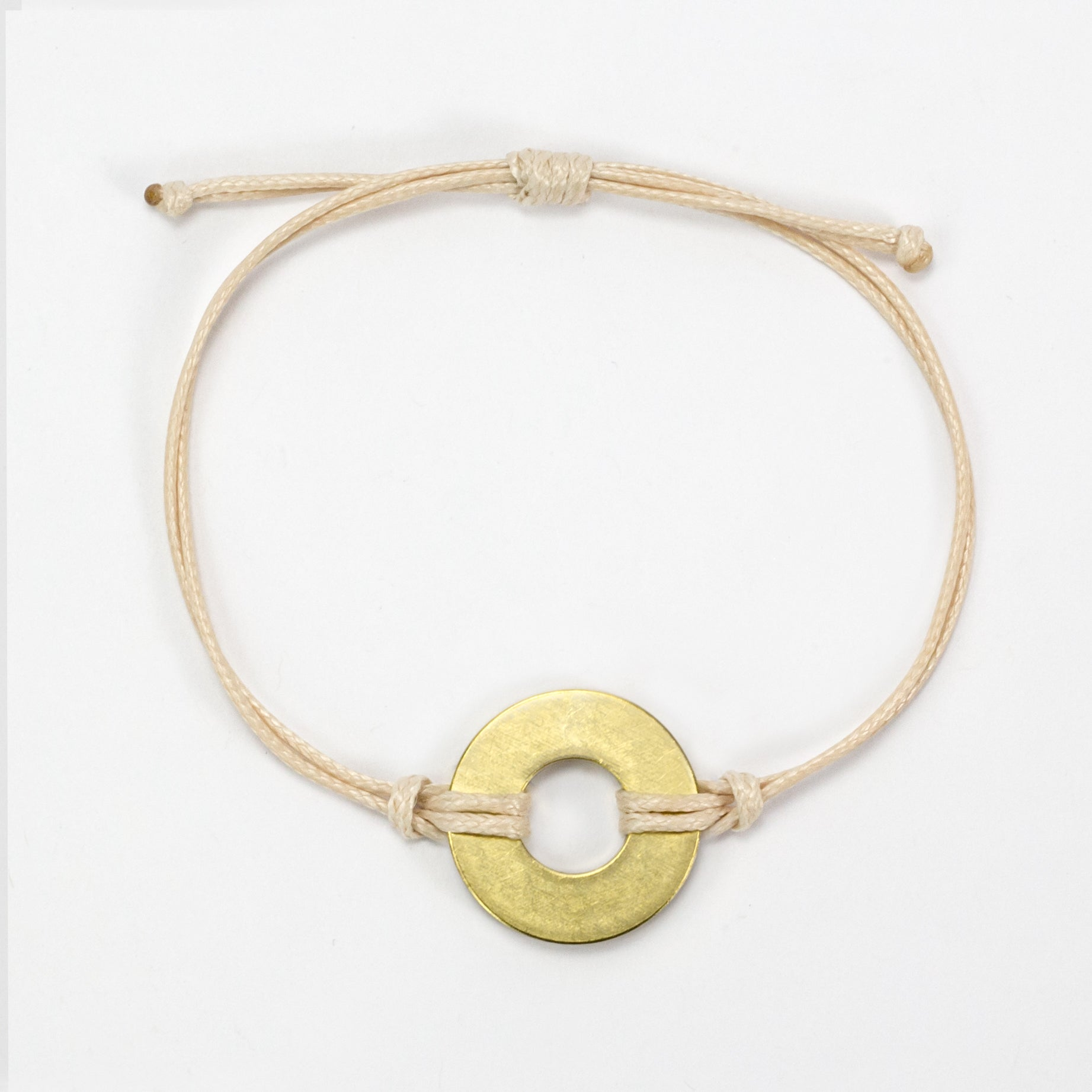 MyIntent Refill Classic Bracelet Cream String with Brass token