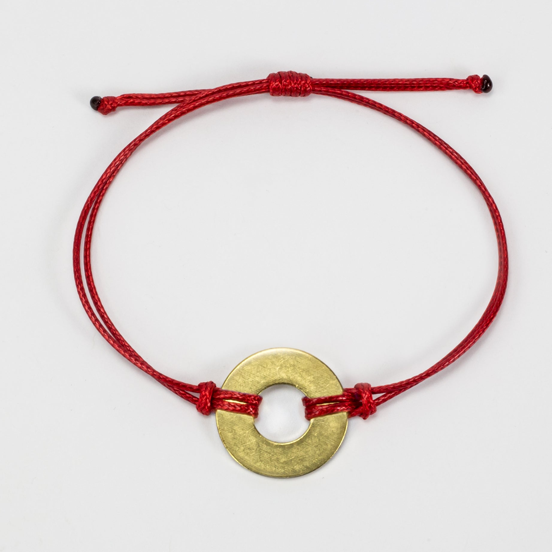 MyIntent Refill Classic Bracelet Red String with Brass token