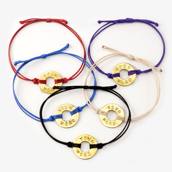 MyIntent Custom Classic Bracelets in All Colors with Antique Brass Token