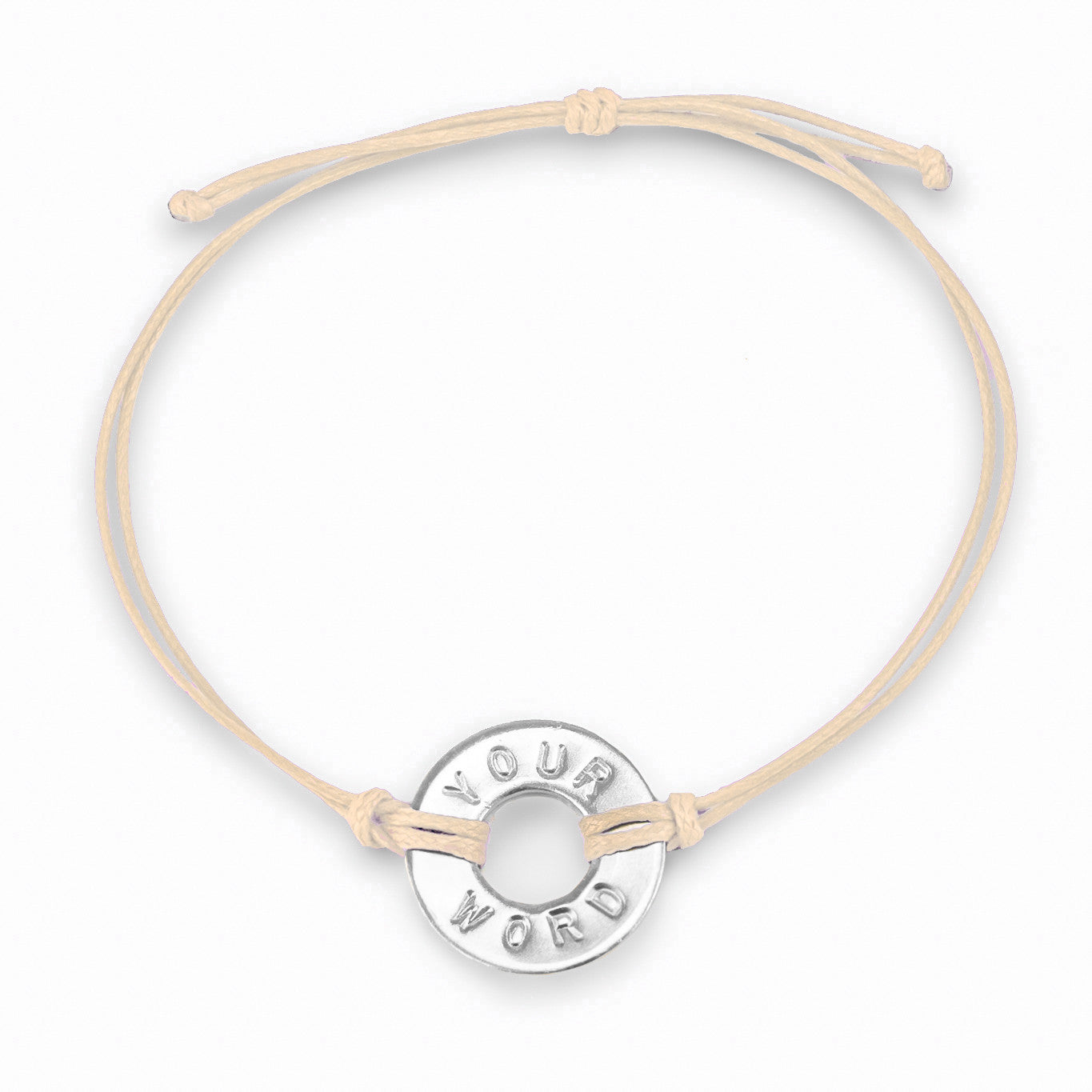 MyIntent Custom Classic Bracelet Nickel Token Cream String Color