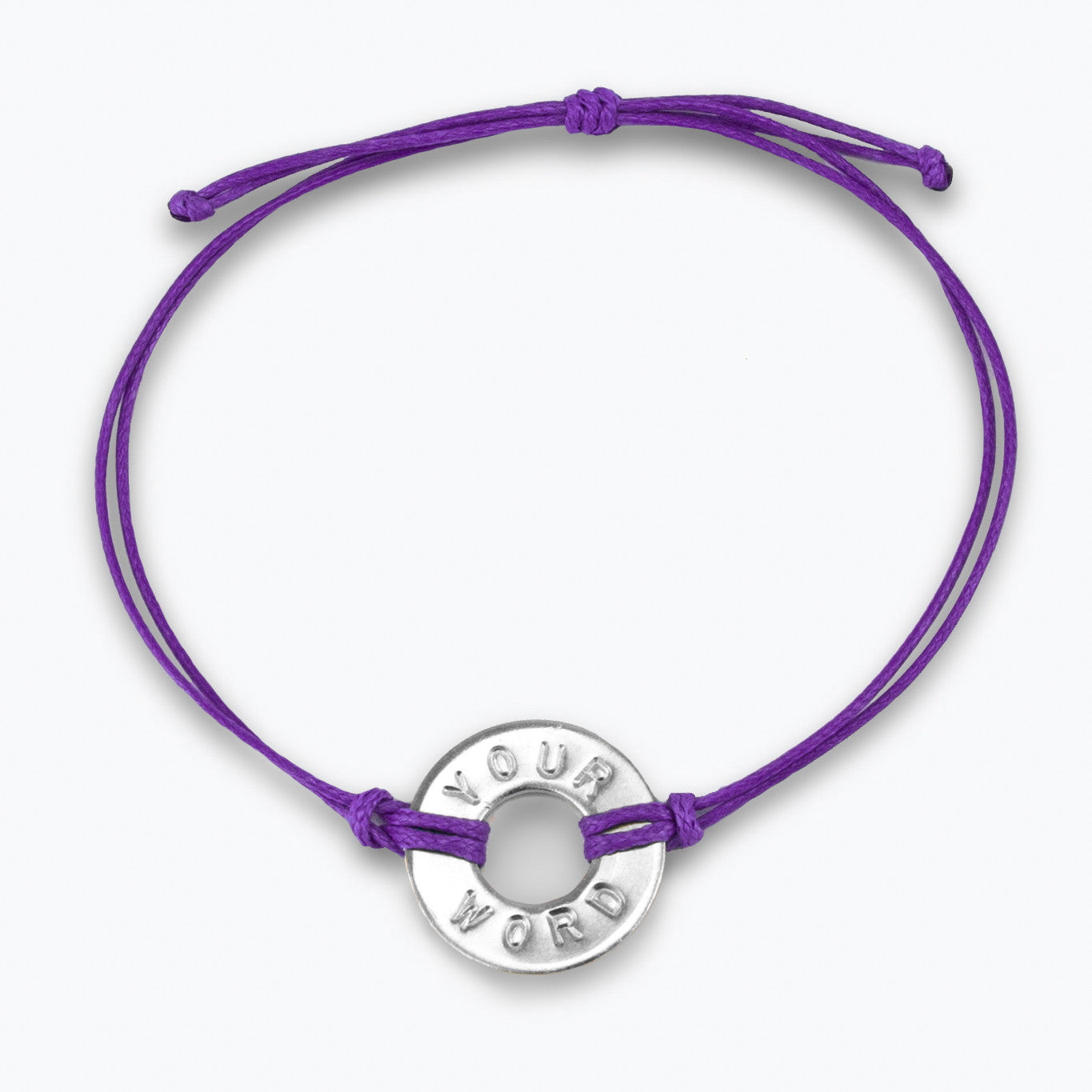 MyIntent Custom Classic Bracelet Nickel Token Purple String Color
