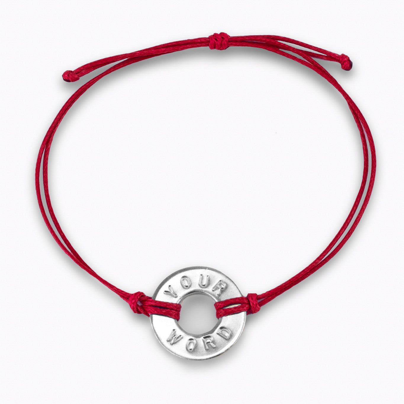 MyIntent Custom Classic Bracelet Nickel Token Red String Color