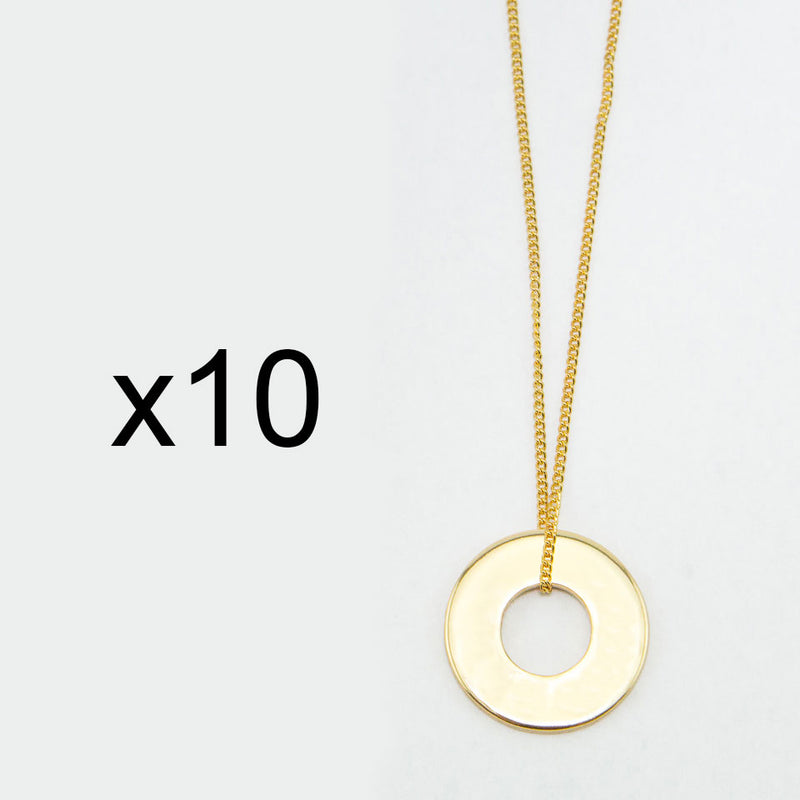 MyIntent Refill Dainty Necklaces set of 10 Gold Plated Color