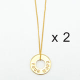 MyIntent Custom Dainty Necklace Set of 2 Gold Plated Color
