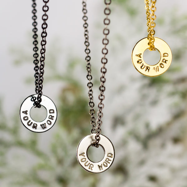 MyIntent Custom Chain Necklace all color Black Nickel, Nickel, and Brass