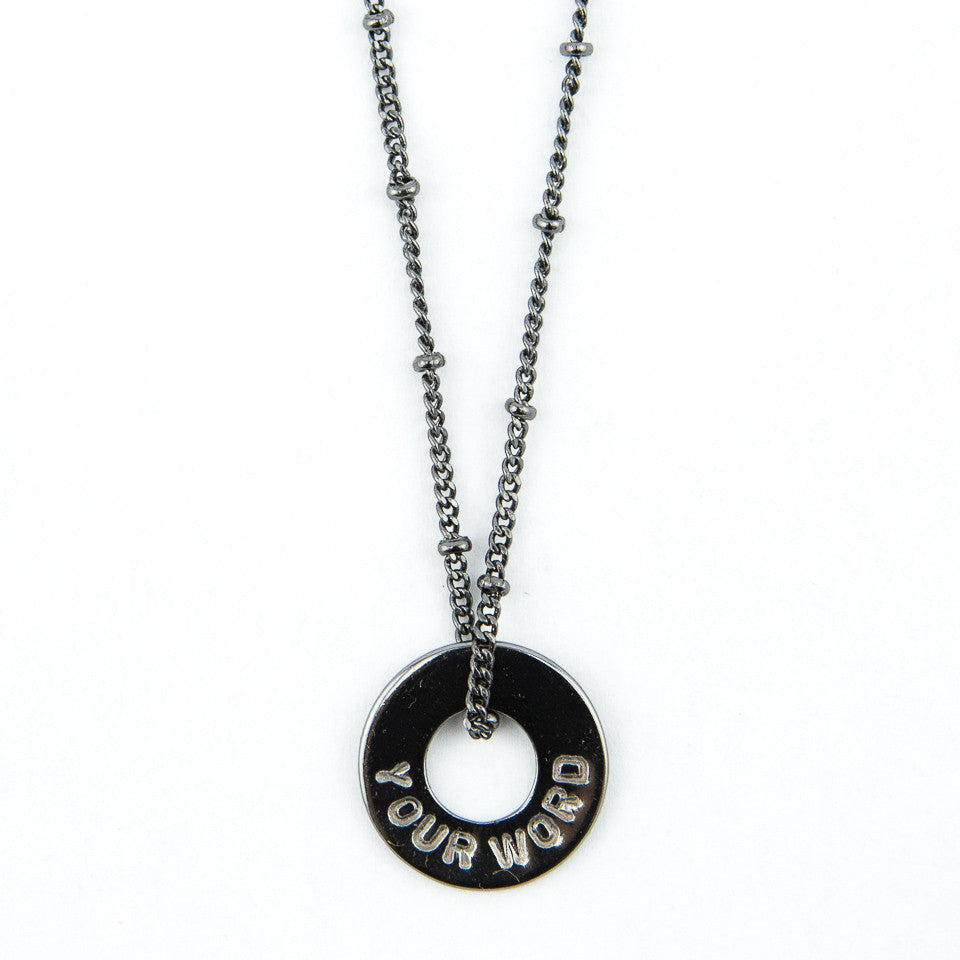 MyIntent Custom Bead Necklace Black Nickel Plated Color