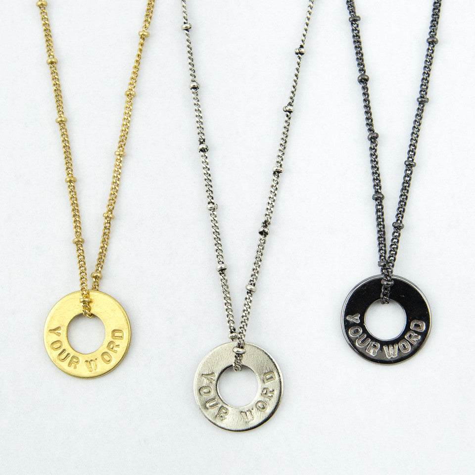 MyIntent Custom Bead Necklace all color Black Nickel, Nickel, and Brass