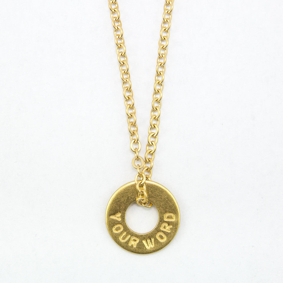 MyIntent Custom Chain Necklace Brass Color