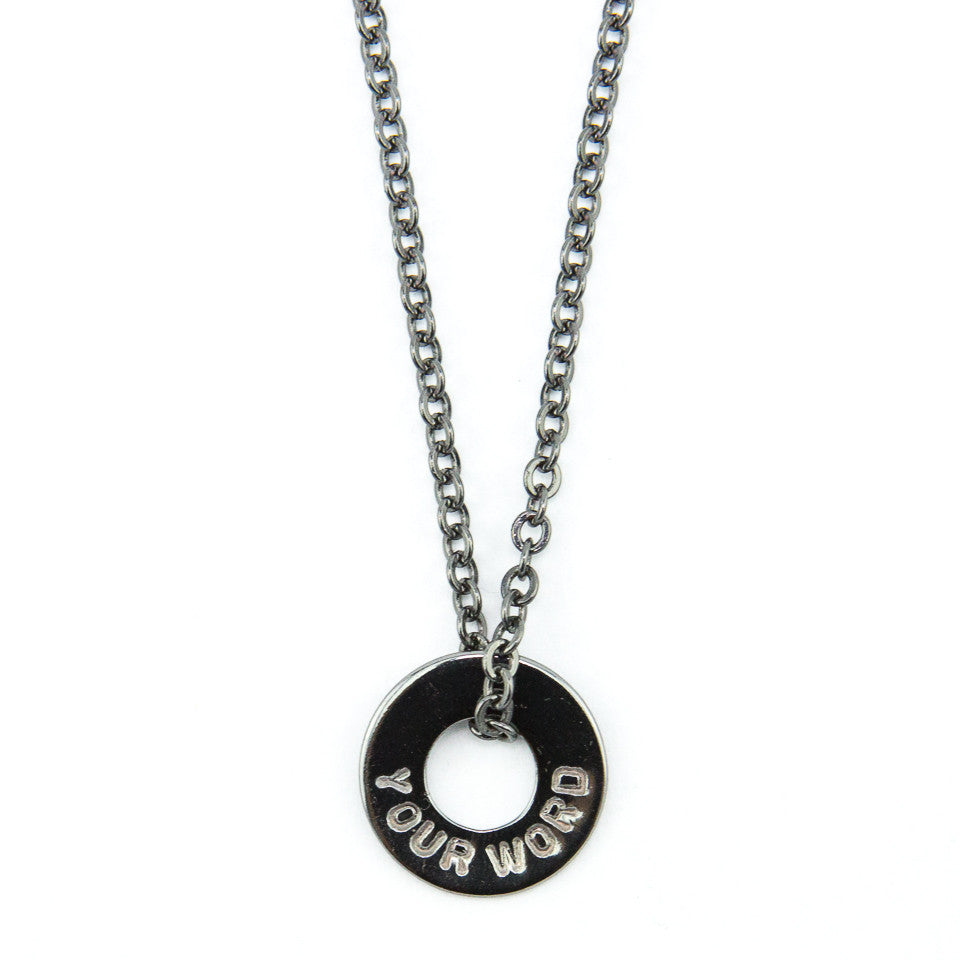 MyIntent Custom Chain Necklace Black Nickel Color