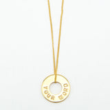 MyIntent Custom Dainty Necklace Gold Plated Color